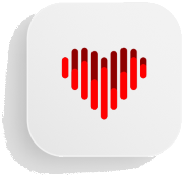 heart shape used as logo for HRV Trace